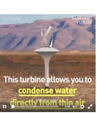 Alternatieve manieren om drinkwater uit de lucht te halen.